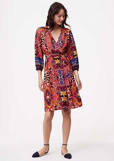 Fantasy Floral Wrap Dress
