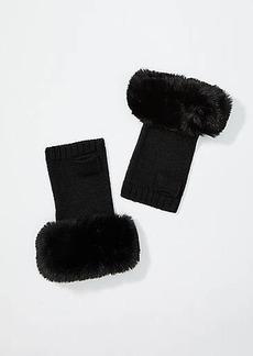 LOFT Faux Fur Cuff Fingerless Gloves
