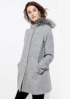 LOFT Faux Fur Hooded Coat