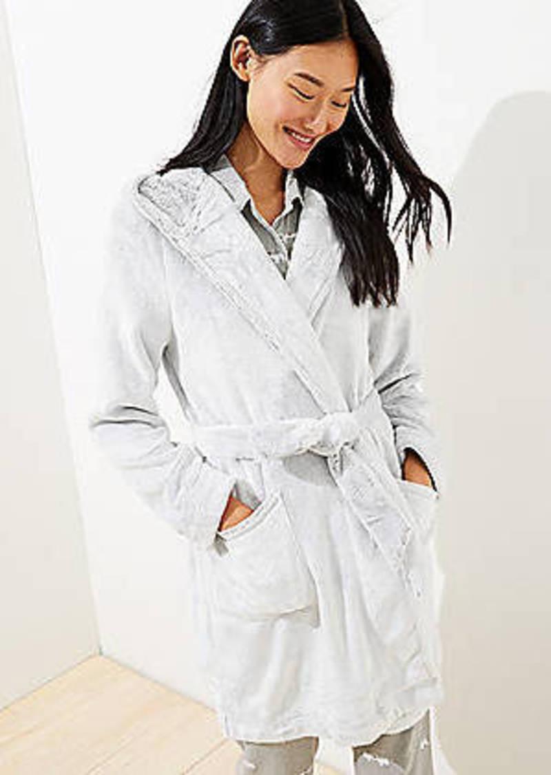LOFT Faux Fur Hooded Robe