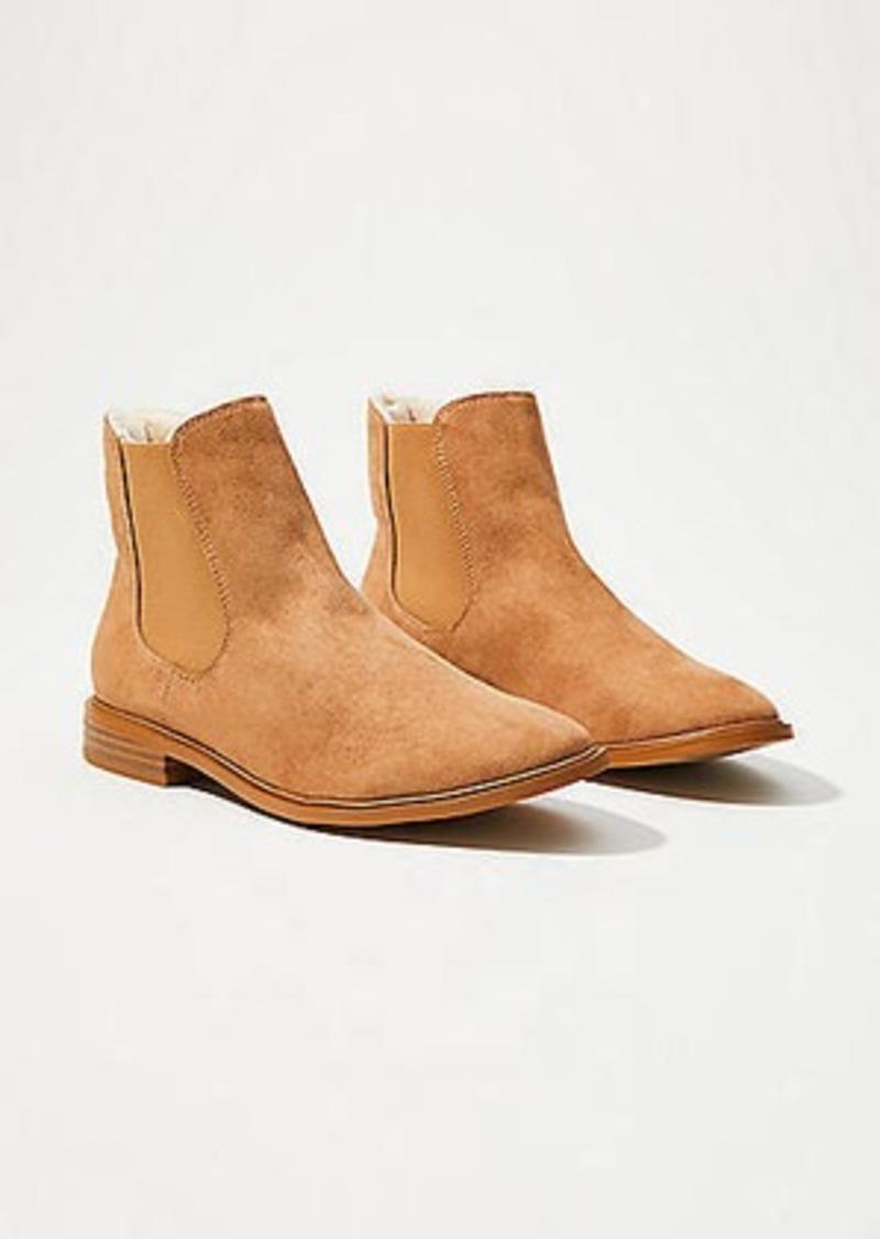 LOFT Faux Fur Lined Chelsea Ankle Boots