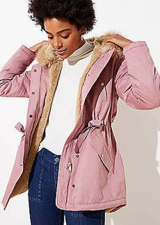 LOFT Faux Fur Lined Hooded Parka