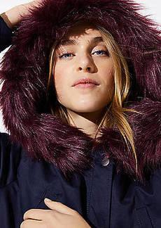 LOFT Faux Fur Lined Parka