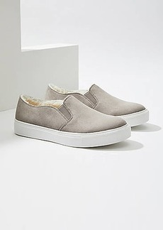 LOFT Faux Fur Lined Slip On Sneakers