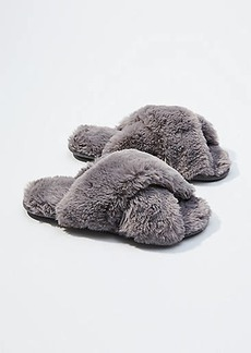 LOFT Faux Fur Slide Slippers