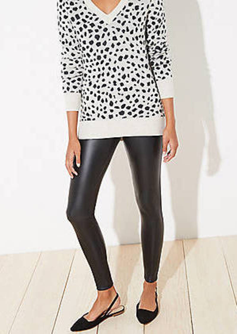LOFT Faux Leather Leggings