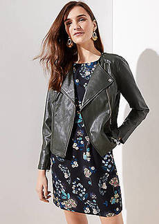 LOFT Faux Leather Moto Jacket