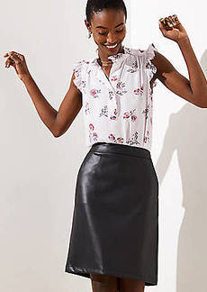 LOFT Faux Leather Pocket Skirt