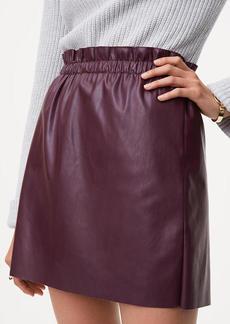 LOFT Faux Leather Shift Skirt