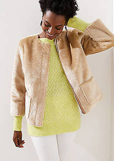 LOFT Faux Shearling Jacket