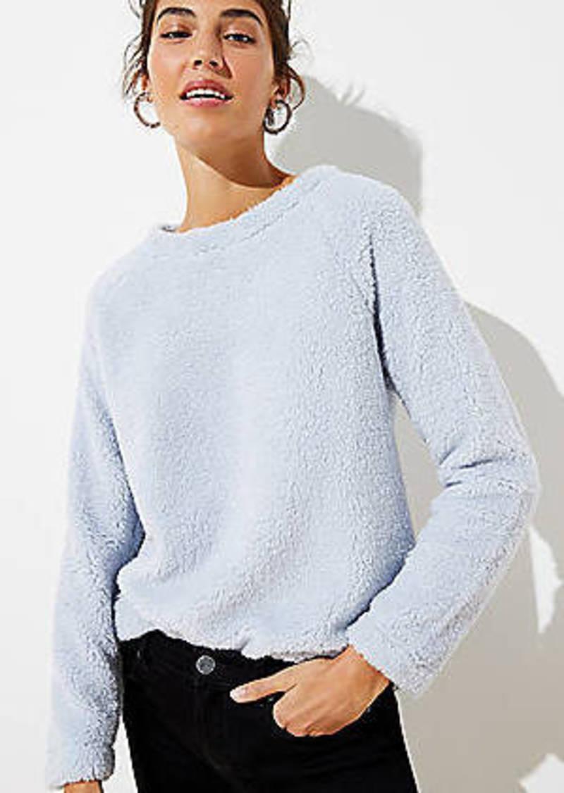 LOFT Faux Sherpa Sweatshirt