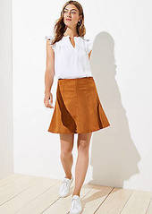 LOFT Faux Suede Flippy Skirt