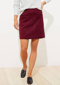 LOFT Faux Suede Pocket Shift Skirt