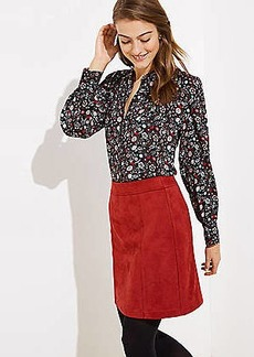 LOFT Faux Suede Shift Skirt