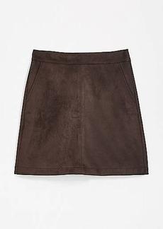 LOFT Faux Suede Shift Skirt