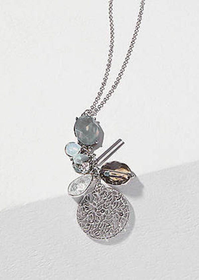 LOFT Filigree Cluster Pendant Necklace