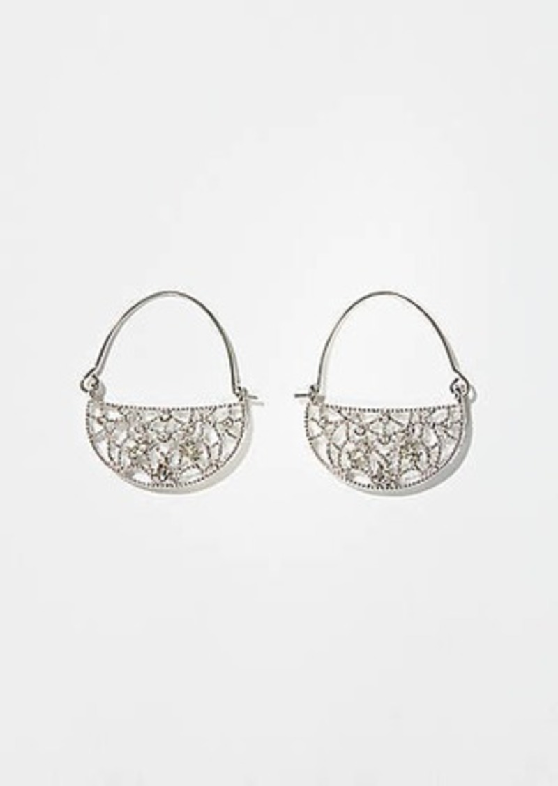 LOFT Filigree Hoop Earrings