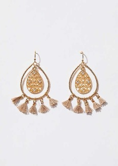 LOFT Filigree Tassel Drop Earrings