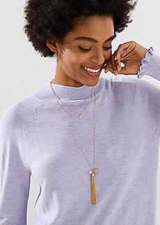 LOFT Filigree Tassel Necklace
