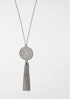 LOFT Filigree Tassel Pendant Necklace