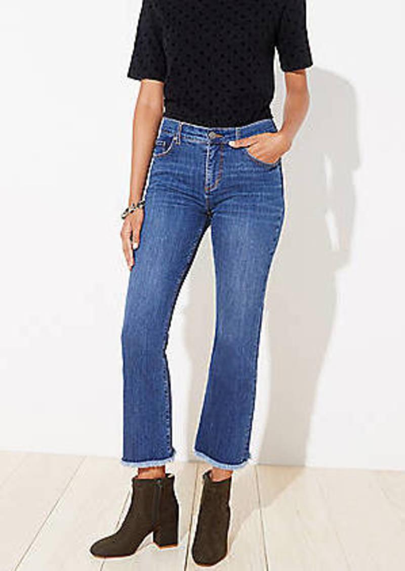 LOFT Flare Crop Jeans in Dark Indigo