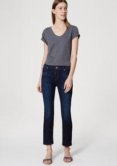 LOFT Flare Crop Jeans in Vivid Dark Indigo
