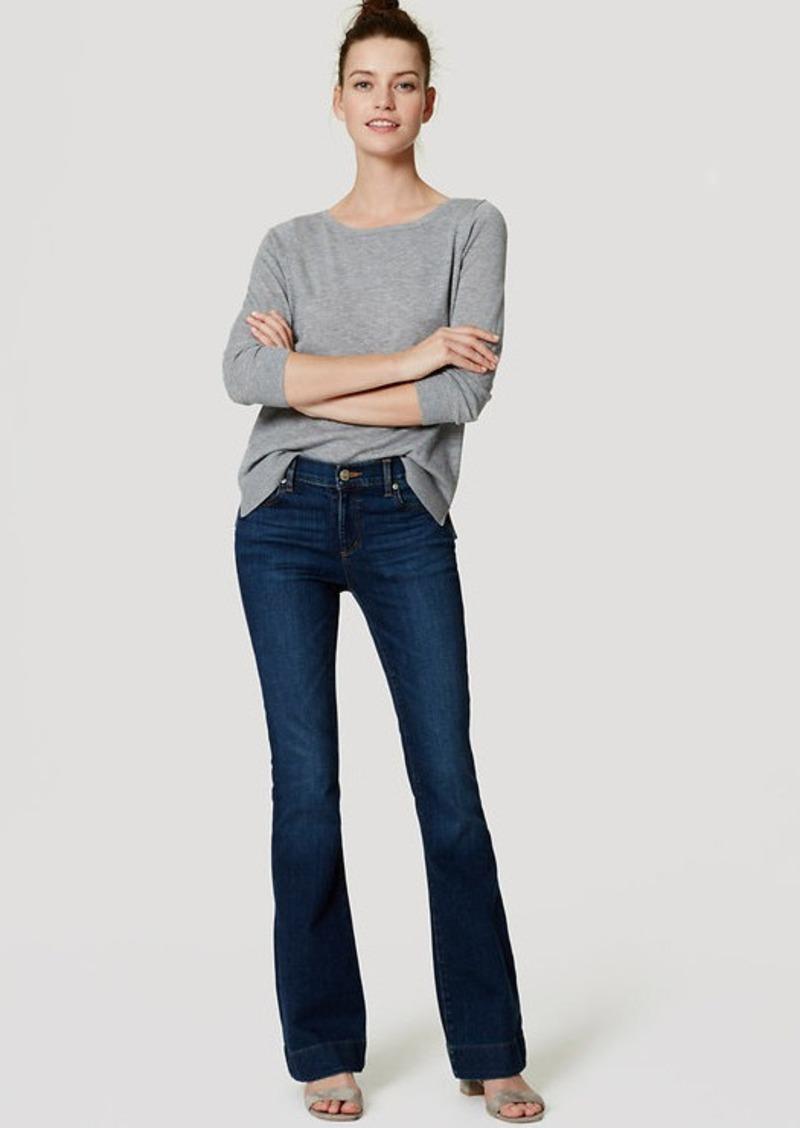 LOFT Flare Jeans in Dark Enzyme Wash