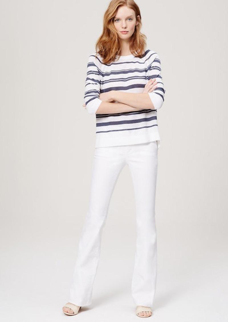 LOFT Flare Jeans in White