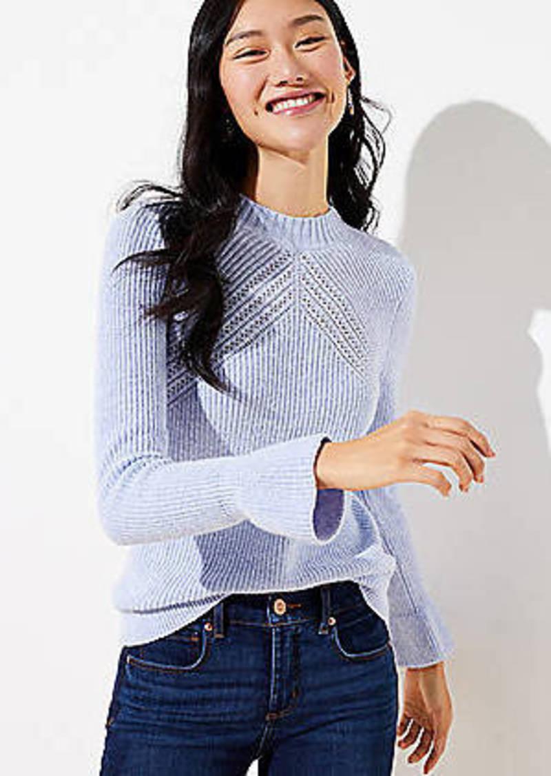 LOFT Flare Sleeve Sweater
