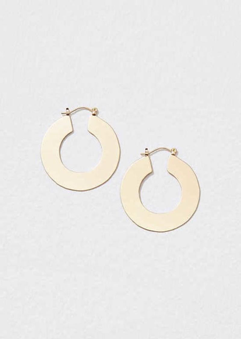 LOFT Flat Hoop Earrings