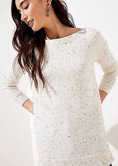 LOFT Flecked Boatneck Tunic Sweater