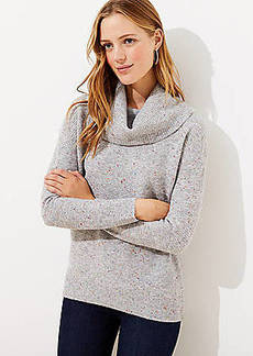 LOFT Flecked Cowl Neck Tunic Sweater