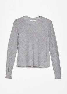LOFT Flecked Modern Crew Neck Sweater