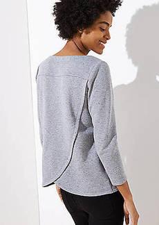LOFT Flecked Crossover Back Sweatshirt