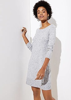 LOFT Flecked Cutout Back Sweater Dress