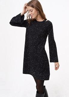 Flecked Cutout Sweater Dress