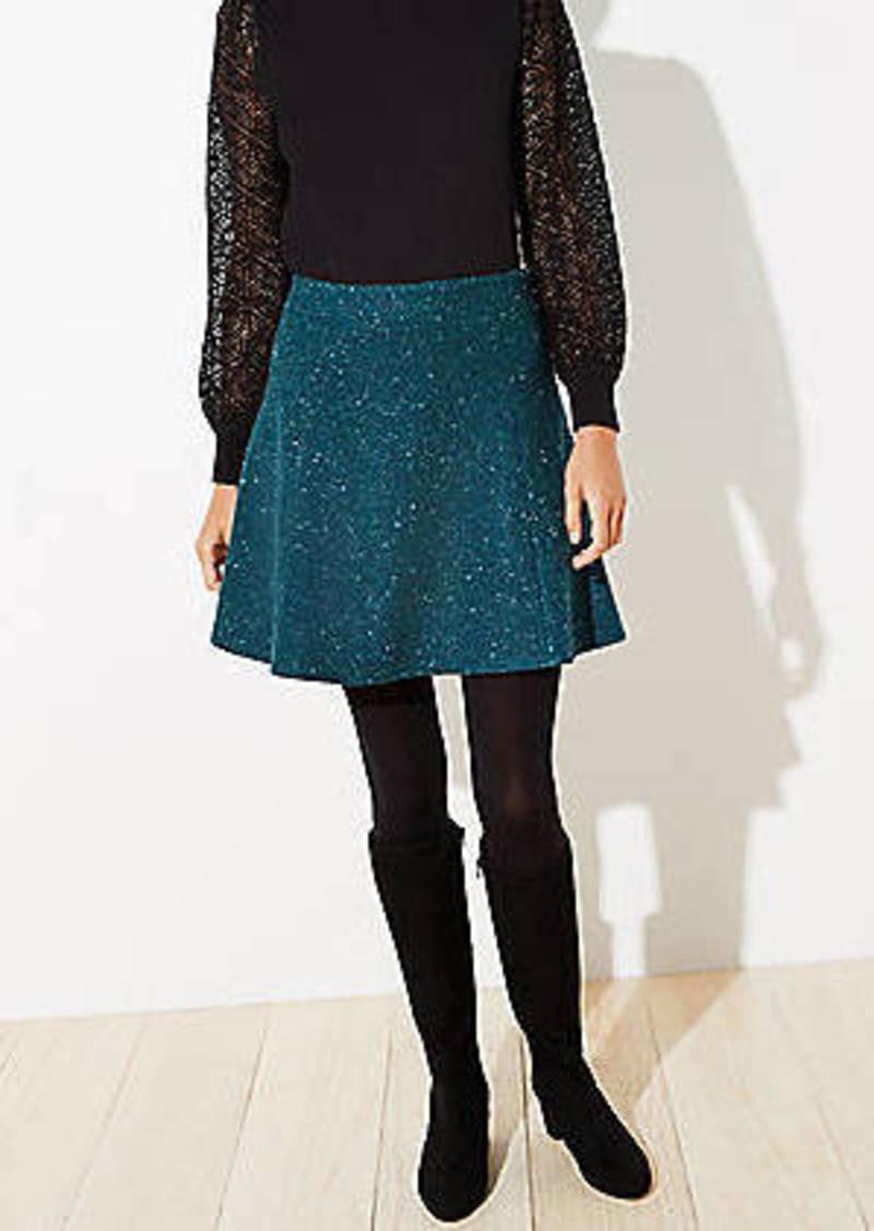 LOFT Flecked Flippy Skirt