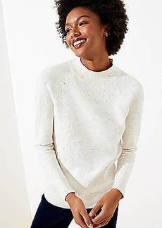 LOFT Flecked Mock Neck Sweater
