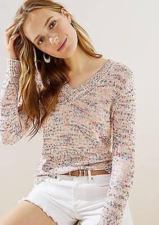 LOFT Flecked V-Neck Sweater