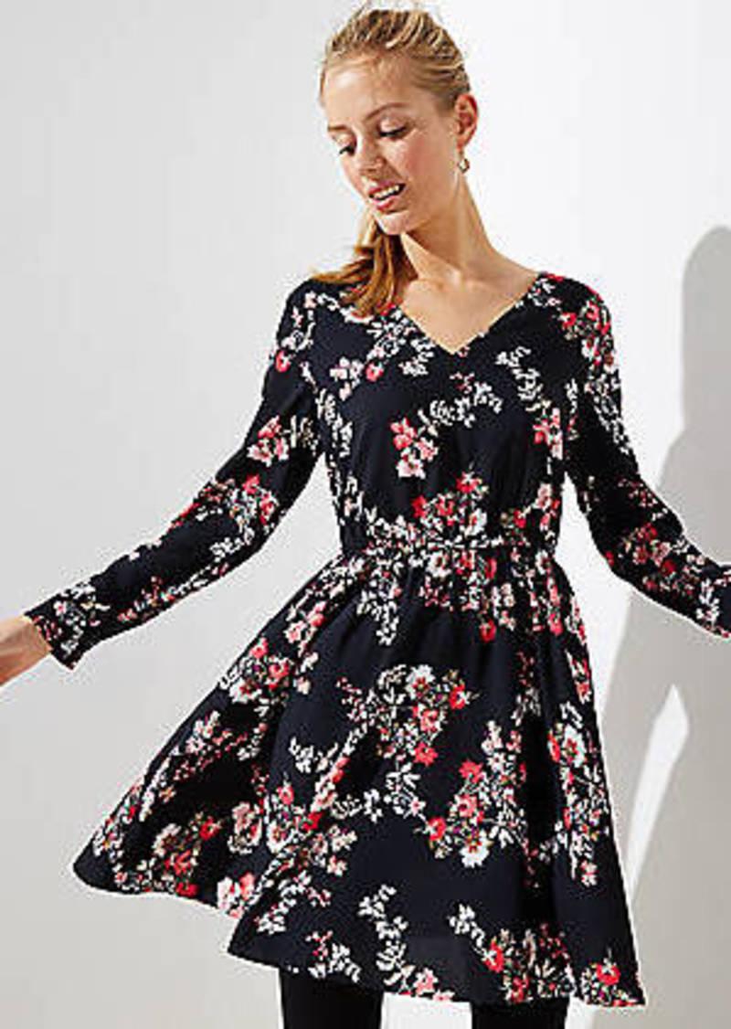 LOFT Floral Bar Back Dress