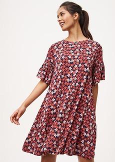 Floral Bell Sleeve Swing Dress