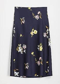 LOFT Bloom Pull On Midi Skirt