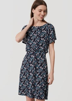 Floral Blouson Flutter Dress