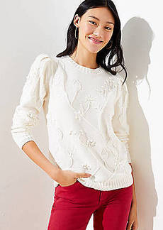 LOFT Floral Bobble Sweater