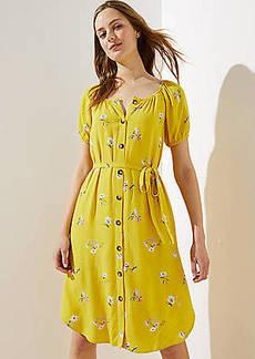LOFT Floral Button Down Dress