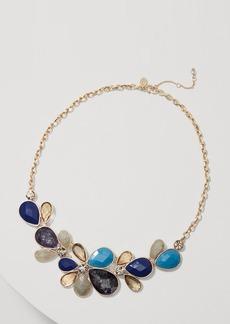LOFT Floral Crystal Drop Necklace
