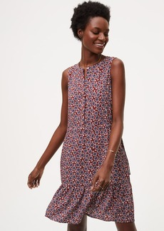 Floral Drawstring Henley Dress