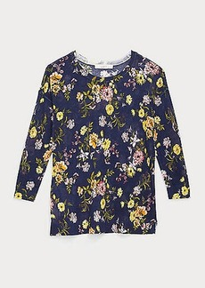 LOFT Floral Drop Shoulder Sweater