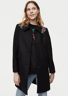 Floral Embroidered Coat
