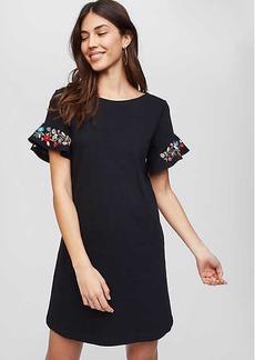Floral Embroidered Flutter Swing Dress